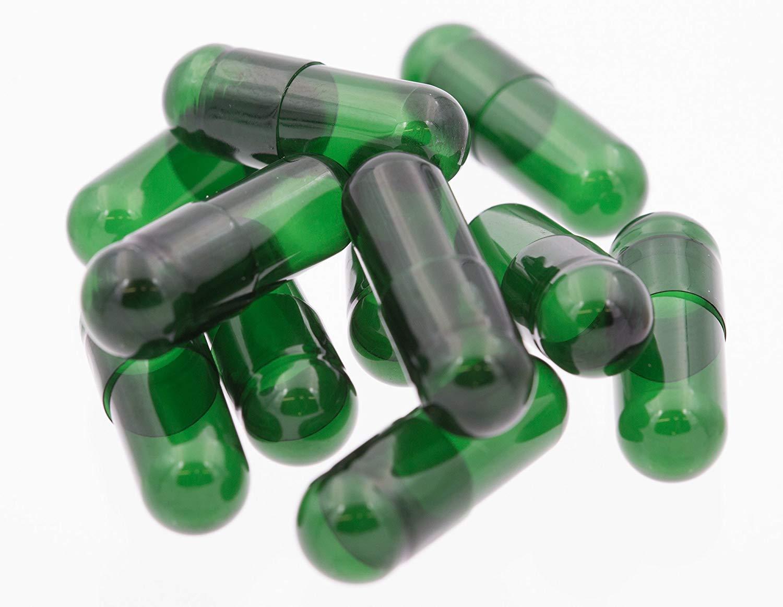 Leerkapseln vegan grün transparent